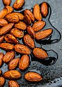 Toasted almonds in soy sauce