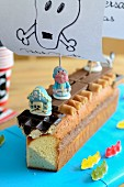 A pirate ship cake for a child's birthday