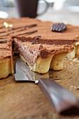 Chilled chocolate torte