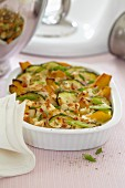 Pumpkin and courgette bake