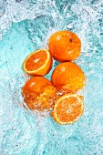 Oranges in water