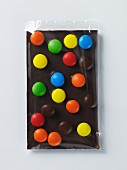 Zoe's Chocolates; A Piece of Chocolate with Colorful Candies