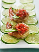 Tequila Lime Shrimp with Tomato Salsa