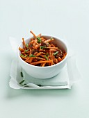 Zesty Carrot and Date Salad in a Bowl