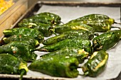 A Tray of Stuffed Poblano Peppers