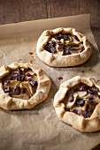 Three Apple Cranberry Galettes