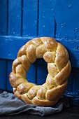 Braided Bread Wreath
