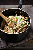 Mushroom Risotto in a Pot