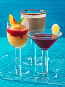 Summer cocktails and a smoothie