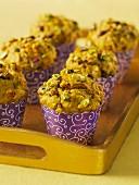 Spicy pistachio muffins