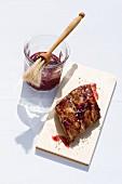 Spare ribs with blackcurrant salsa
