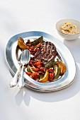 Grilled beef fillet with pan-fried courgettes