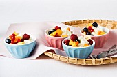 Rice pudding with fruit