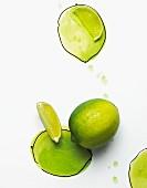 Limette und Limettenschnitze
