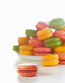 Colourful macaroons, close up