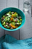 Bean soup with courgette