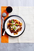 Pappardelle with lamb knuckle ragout