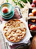 Apricot and rose water tart