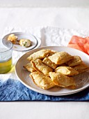 Kalitsounia (stuffed pastry parcels, Crete)