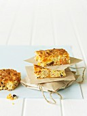 Homemade muesli bars with apricots