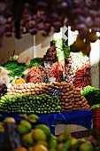 A view of a market stall, piled high with vegetables (Tunis, Tunisia)