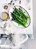 Green asparagus with blood-orange and chervil hollandaise