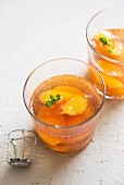 Champagne with apricots