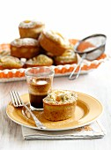 Mandarin and pistachio friands and coffee