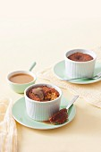 Ginger puddings with butterscotch sauce