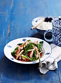 Quick chicken stir fry with lemon grass and vegetables (Asia)
