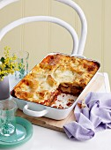 Vegetable lasagne with grilled peppers and courgette
