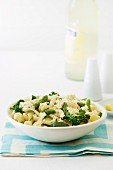 Pasta with spring vegetables and ricotta