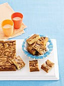 Marbled caramel blondies
