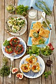 Summery dishes with herbs