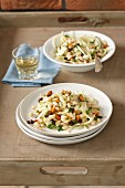 Fennel salad with almonds and raisins