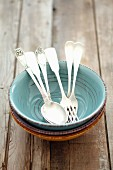 Bowls, spoons and forks