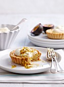 Passion fruit tartlet with vanilla topping