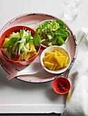 Asam laksa (rice noodle soup, Malaysia)