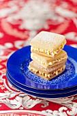 Custard cream biscuits (England)
