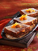 Almond and carrot slices