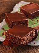 Chocolate cake with nougat