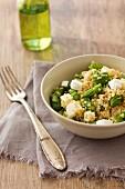 Quinoa and asparagus salad with feta