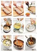 Schweinebauch mit Sauerkraut und Kartoffelknödel zubereiten