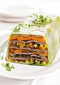 Meat and vegetables in aspic