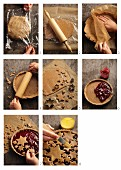 Making Linzer Torte (nut and jam layer cake)