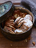Mini gingerbreads and spiced biscuits