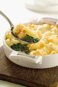 Spinach and pasta bake