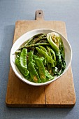 Buttered green vegetables