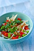 Fennel and pepper salad with beans and capers
