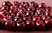 Shiny red cherries